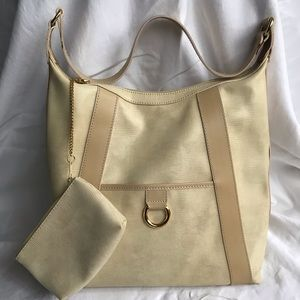 Lancel Tote with Coin Purse in Creamy White